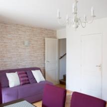Salon avec accès étage